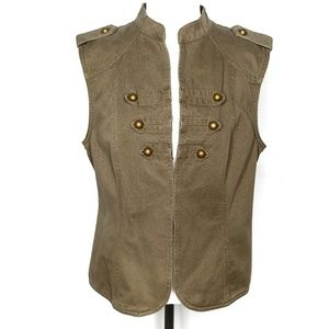 Live life by Sanctuary olive green sleeveless vest